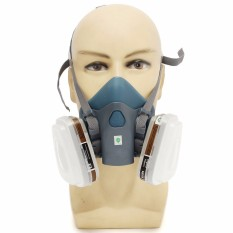 7Pcs Silicone Comfort Suit Respirator Painting Spraying Face Gas Mask Fr 3M 7502 Intl For Sale