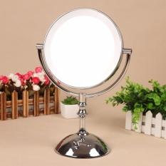 8 Inch Desktop Makeup Mirror 2-Face Mirror 3X 5X 10X Magnification Metal Makeup Mirror LED DRYER Adjust the Brightness - intl