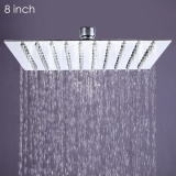 8 Inch High Pressure Ultra Thin 201 Stainless Steel Square Rain Shower Head Intl On Line