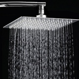 Buy 8 Inch Rainfall Shower Head Ultra Thin Stainless Steel High Polish Chrome Luxury Durable Rain Showerhead On China