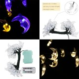 8 Lighting Model Indoor And Outdoor 20Ft 6M 30 Led Moon Battery Opetated String Fairy Waterproof Lights Christmas String Lights With 13 Key Remote Control For Garden Patio Yard Home Christmas Tree Intl Online