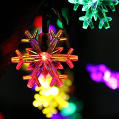 Price 8 Lighting Model Indoor And Outdoor 20Ft 6M 30 Led Snowflake Battery Opetated String Fairy Waterproof Lights Christmas String Lights With 13 Key Remote Control For Garden Patio Yard Home Christmas Tree Intl China