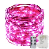 Purchase 8 Lighting Model Indoor And Outdoor Waterproof Battery Operated 120 Led String Lights On 12M Long Ultra Thin Copper Wire With 13 Key Remote Control Intl
