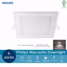 Sale 8 Pcs Philips 59527 Marcasite 12W Led Downlight Square Cool Daylight 6500K Gs Led