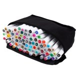Price 80 Colors Sets Touch Five Alcohol Graphic Art Twin Tip Pen Markers Broad Fine Point(Picea Meyeri) Intl Oem