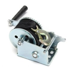 Review 800Lbs Heavy Duty Manual Hand Crank Strap Gear Winch For Car Truck Boat Trailer Intl Not Specified On China