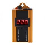 Best Rated 80Kw 110V 220V Household Digital Lcd Display Energy Electricity Saver Power Saving Box Yellow Intl