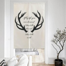 85x120cm Nordic Style Polyester Door Curtain Bathroom Kitchen Partition Curtains Bedroom Hanging Room Dividers & Screens - intl