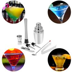 Price 8Pcs Stainless Steel Professional 350Ml Cocktail Shaker Mixer Kit With Muddler Corkscrew Jigger Ice Tongs Mixing Spoon Pourers Bartender Set Home Bar Tool Intl Oem New