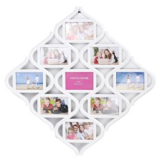 Price Comparisons 9 Image Chinese Knots Combination Picture Display Wall Decor Photo Frame Collage