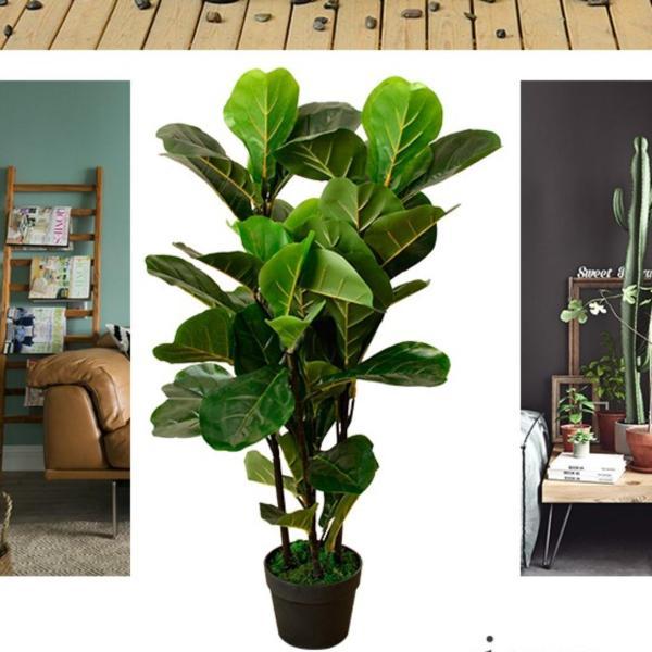 90cm Tall Ficus Lyrata Artificial Plant