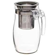 950Ml Clear Heat Resistant Glass Teapot Infuser Green Flower Tea Coffee Pot Export Coupon