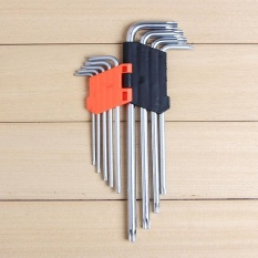 How To Get 9P Strong Long Star L Allen Wrench Key Set Automotive Household 22Cm Intl