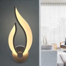 9W Modern LED Wall Lamp Simple Corridor Hallway Bedroom Bedside Night Light Warm White - intl