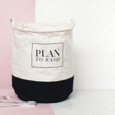 Purchase A Plan To Wash Black Fabric Laundry Basket Online