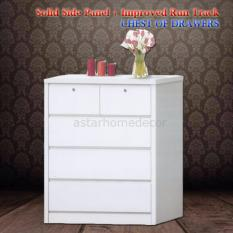 [A-STAR] Chest of Drawers Cabinet (Glossy White)