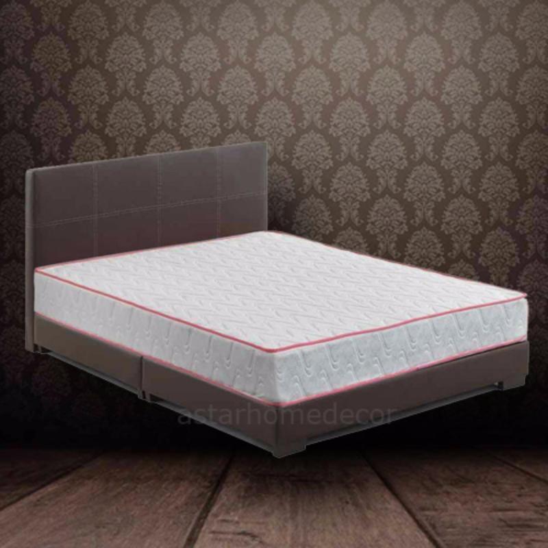 A-star Queen size Divan Bed frame (Brown) + Queen size Spring Mattress