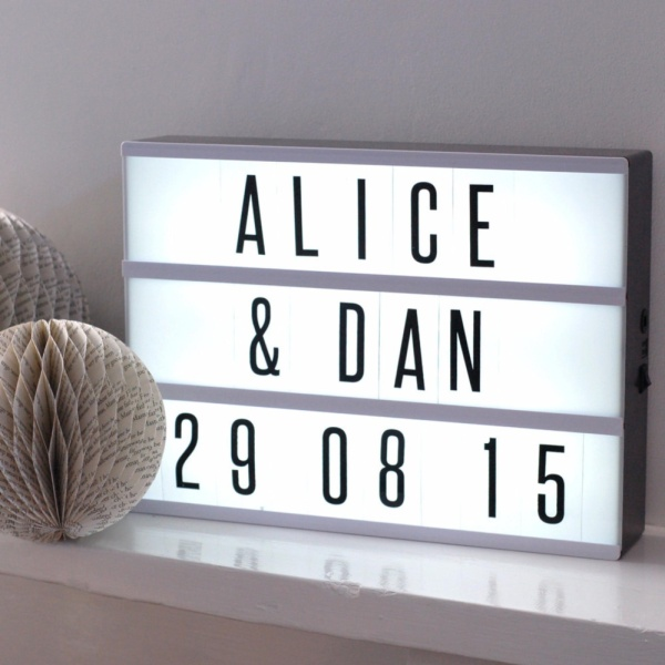 A4 Cinematic LED Light Box with 180pc Letter Pink x 1 Unit
