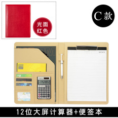 Discount A4 Folder Leather Manager Folder Signing Bense O Plate File Clip