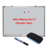 Abs Material Double Sided White Magnetic Drawing Board With A Powder And Whiteboard Pen Intl Best Price