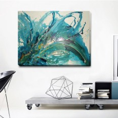 Abstract Stretched Canvas Print Framed Wall Art Home Office Decor Painting Gift - intl