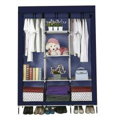 Abusun 2017 hot selling Portable Wardrobe Closet Storage Organizer Cupboard Cloth Rack With Shelves choose - intl