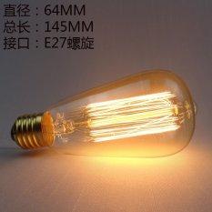 AC 220V 40W Edison ST64 LED Incandescent Bulb Warm White - intl Singapore