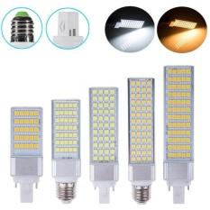AC85-265V 13W G24 LED Corn Bulb Lamp Light SMD 5050 Spotlight 180Degree Horizontal Plug Light Warm White  - intl Singapore
