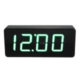 Discount Acryl Spiegel Wooden Holz Digital Led Wecker Clock Uhr Zeit Kalender Thermometer Oem China