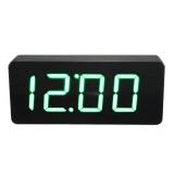 Sale Acryl Spiegel Wooden Holz Digital Led Wecker Clock Uhr Zeit Kalender Thermometer Black Oem Online