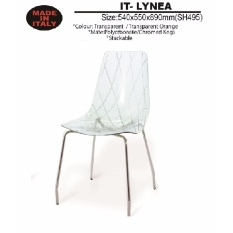 Acrylic Chair with Chromed Leg Transparent 890mm Height
