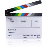 Acrylic Clapboard Dry Erase Director Film Movie Clapper Board Slate 1 7 X 9 8 Inch With Color Sticks Colorful Strip Coupon Code