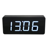Acrylic Mirror Wooden Digital White Led Alarm Desk Clock Calendar Thermometer Audew Intl Best Price
