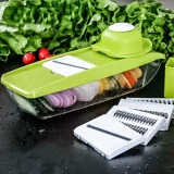 Buying Adjustable Mandoline Slicer With 4 Interchangeable Stainless Steel Blades Vegetable Cutter Peeler Slicer Grater Box Vc 1011