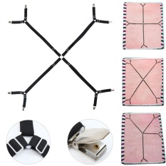 For Sale Adjustable Mattress Crisscross Bed Sheet Straps Clips Gripper Fastener Suspender Intl