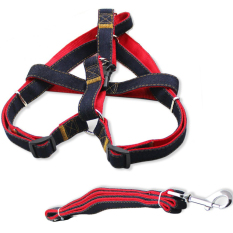Adjustable Pet Dog Leash And Harness Size M For Poodle Chihuahua Dogs Weight Within 5 - 8 Kg Pets By Vococal Shop.