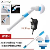 Shop For Aifree Turbo Scrub Cleaning Brush Electric Long Handle Floor Toilet Brush Window Cleaner Multi Function Charging Brush Spin Scrubber Intl