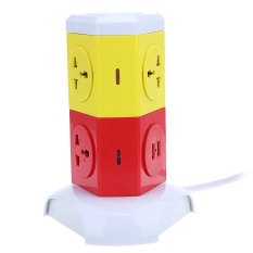 Coupon Alardor Ald 2W4K L Multicolor 180 Degree Rotating Socket Intelligent Vertical Surge Protection Power Strip Uk Plug Intl