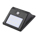 Discount Allwin 10 Led Solar Power Pir Motion Sensor Wall Light Outdoor Waterproof Garden Lamp Oem On China