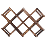 Review Allwin Wooden Red Wine Rack 3 6 10 Bottle Holder Mount Kitchen Bar Display Shelf Carbonized Wood On China