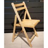Sale Amante Rubber Wood Folding Chair Natural Amante Wholesaler