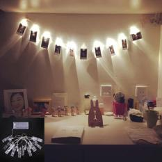Amart 1.2m 10 Led Card Photo Wall Clip Fairy String Light Home Christmas Decoration Battery Operated Lamps - Intl By Amart.