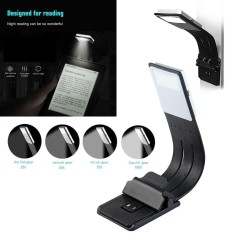 Amart Portable LED Reading Book Light With Detachable Flexible Clip USB Rechargeable Lamp - intl