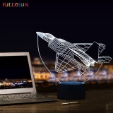 Discount Amazing 3D Visual Lamp Airplane Shape With 7 Colors Touch Table Lamp For Bedroom Decorations Night Lamp Intl Oem China