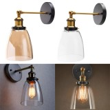 Amber Color Modern Vintage Industrial Glass Lamp Shade Filament Wall Light Sconce Intl Online