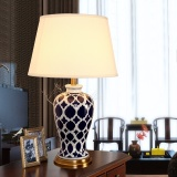 Top 10 American Copper Ceramic Bed Lamp Pastoral Style Ceramic Table Lamp Desk Lamp Bedroom Beside Lamp With Fabric Shade White Hand Painted Energy Class A Intl