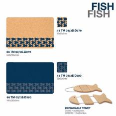 Buy Cheap Amorim Fish Rect Placemat Blue 4S
