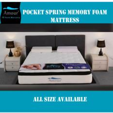 AMOUR® BAMBOO FIBER NATURE COOLING POCKET SPRING MATTRESS 10 YEARS WARRANTY FREE DELIVERY