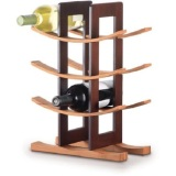 Buy Cheap Anchor Hocking Bamboo Wine Rack