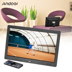 Andoer 10 HD Wide Screen LCD Digital Photo Picture Frame High Resolution 1024*600 Clock MP3 MP4 Video Player with Remote Control Gift Present ^ - intl